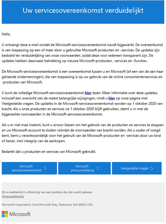 Microsoft Phishingmail